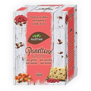 Panettone Sem Glúten com Cranberry e Castanhas Nutfree 360g