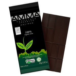 Chocolate Orgânico AMMA 100% Cacau Caixa 6 un 80g