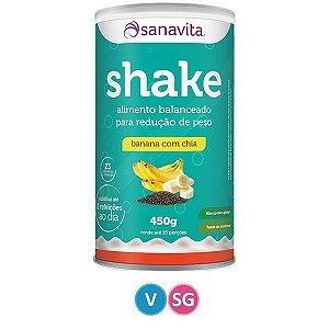 Shake sabor Banana com Chia Sanavita 450g