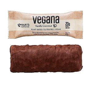 Barra de Proteína Vegana Vanilla Coconut Hart's - Caixa com 12