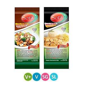 Fatias de Soja Carne Vermelha + Fatia Carne Branca