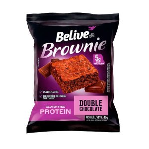 Brownie Protein Double Chocolate Sem Glúten Belive