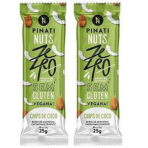Barra de Nuts Vegana Chips de Coco - 2 unidades
