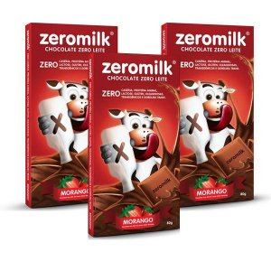 Chocolate Zeromilk Morango 3 unidades