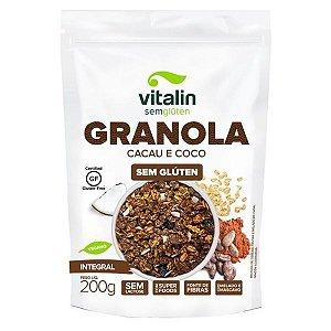 Granola Cacau e Coco Integral Sem Glúten Vitalin