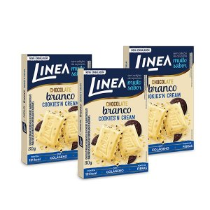 Chocolate Branco com Cookies Linea 3 unidades