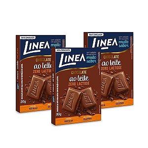 Chocolate ao Leite Zero Lactose Linea 3 unidades