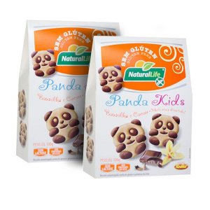 Cookies Baunilha Panda Kids Sem Glúten LEVE 2 UNIDADES