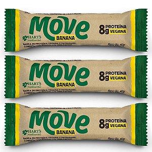 Barra Vegana de Proteína Move sabor Banana Hart's - 3 unidades