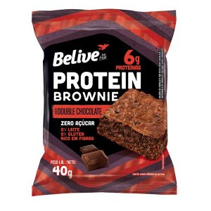 Brownie Protein Double Chocolate Zero Açúcar