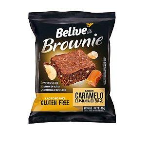Brownie Caramelo e Castanha Sem Glúten