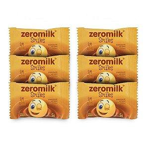 Quadradinhos Chocolate Zeromilk Puro - 6 unidades