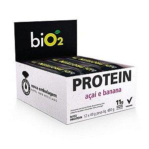 Barra Proteína Banana e Açaí biO2 - Caixa 12 unidades