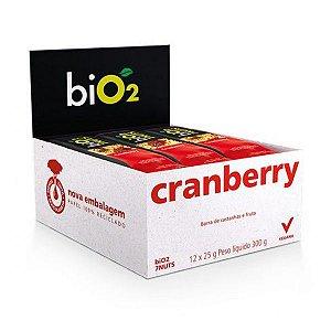 Barra 7 Castanhas + Cranberry Bio2  - Caixa 12 unidades
