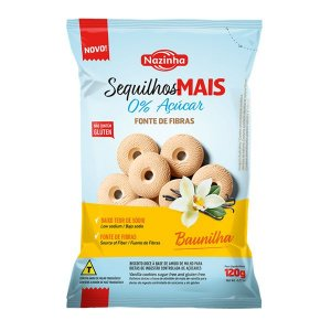Sequilhos Zero Açúcar Baunilha Nazinha