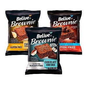 Trio de Brownies Sem Glúten Belive