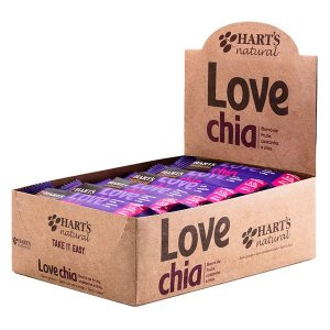 Barra Vegana Love Chia Hart's - Caixa 24 uni