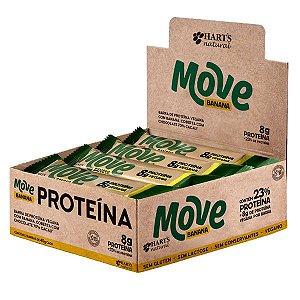 Barra Vegana de Proteína Move Banana Hart's - Caixa 12 uni