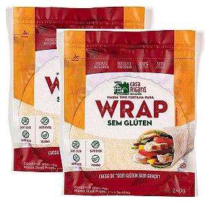 Massas para Wrap Sem Glúten - Leve 2 pacotes