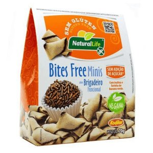 Biscoitos Bites Free Brigadeiro Funcional Vegano
