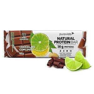 Barra de Proteína Chocolate com Limão Pura Vida