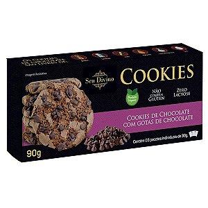 Cookies Chocolate com Gotas Sem Glúten Seu Divino