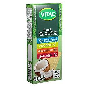 Cocada Zero Açúcar com Cobertura Chocolate Branco