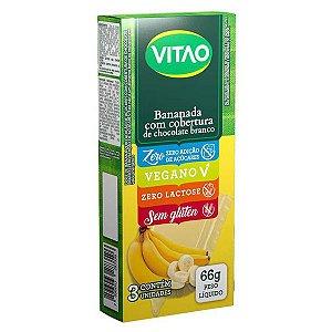 Bananada Zero Açúcar com Cobertura Chocolate Branco