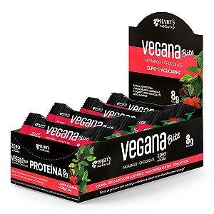 Barra de Proteína Vegana Bites Morango Caixa 12 un