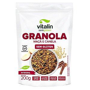 Granola Maçã e Canela Integral Sem Glúten Vitalin