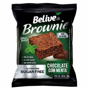 Brownie Chocolate com Menta Zero Açúcar