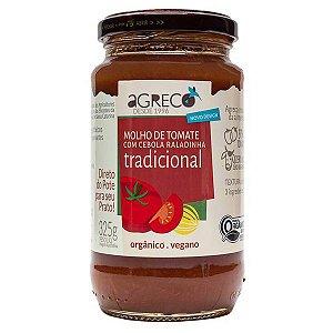 Molho Orgânico Tomate Tradicional Agreco 325g