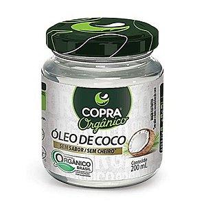 Óleo de Coco Orgânico Sem Sabor Copra 200ml