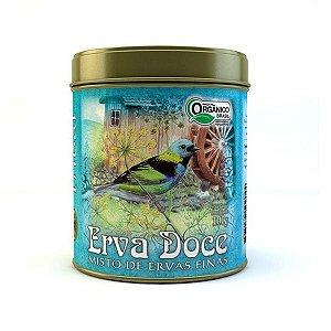 Chá Orgânico Erva Doce - Lata 100g
