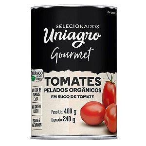 Tomates Pelados Orgânicos Gourmet Uniagro 400g