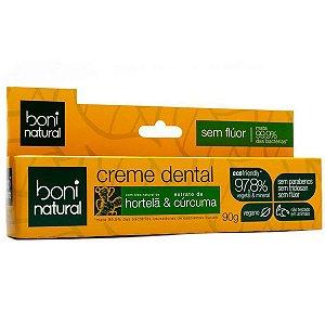 Creme Dental Vegano Hortelã e Cúrcuma Boni Natural 90g