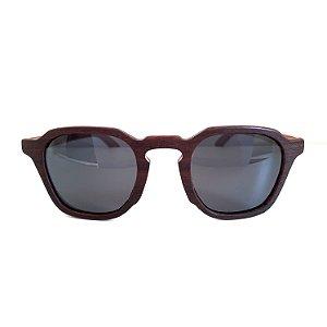 Óculos de madeira masculino Moema- Ipê tabaco