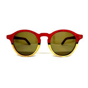 Óculos de madeira feminino Ena - vermelho