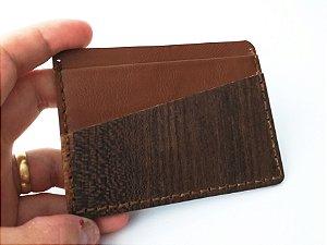 Porta Cartão de Madeira Ipê Tabaco
