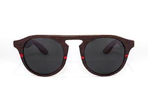 Óculos de madeira masculino Roani - Ipê tabaco