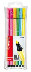 Caneta Stabilo Point 68 6806-1 Est. C/06 Neon