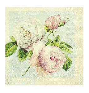Guardanapo De Papel Toke & Crie 33X33 c/ 2 unid - Rosas Vintage