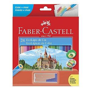 Lapis de Cor 24 Cores Faber Castell Hexagonal LVM