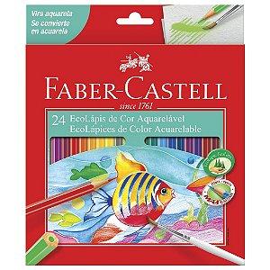 Lapis de Cor Aquarelável 24 Cores Faber Castell