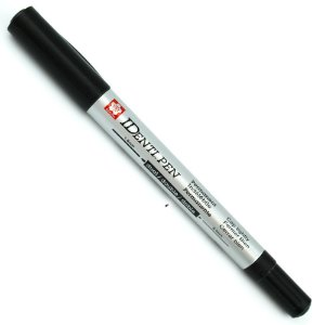 Marcador Permanente Identi Pen Ponta Dupla 0.4mm e 1.0mm - Preto - XYK-T#49