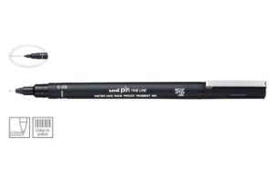 Caneta Nankin Uniball Uni Pin Fine Line Preta