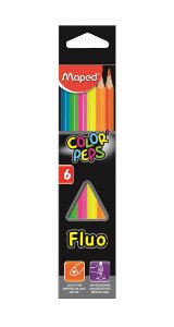 Lápis de Cor Neon Color Peps Maped 6 Cores