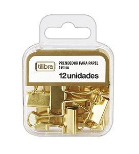 Binder Clip 19mm Dourado C/12un - Tilibra
