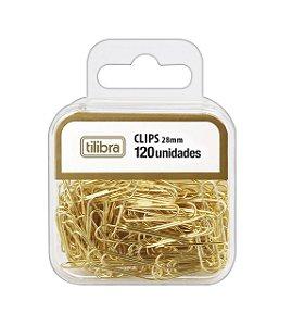 Clips 28mm Dourado C/120 un - Tilibra