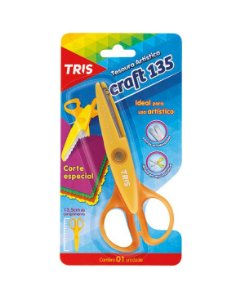 Tesoura de Picotar Art Craft Tris 13cm - Cortes Diversos